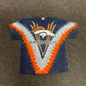 Majestic NFL Denver Broncos Tie Dye T-Shirt XXL